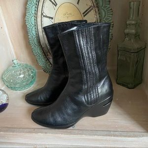 Cole Haan Leather Boots Women's 8